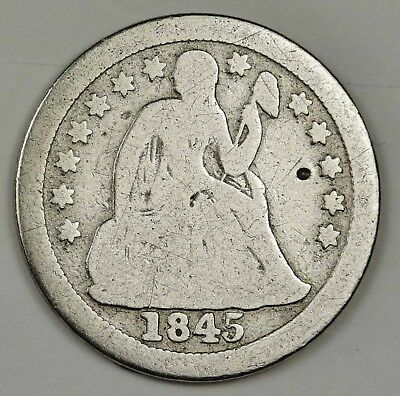 1845-o Liberty Seated Dime.   Good.  133064