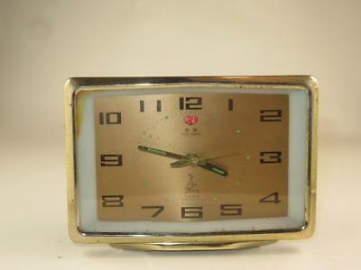 Vintage Retro FIVE RAMS Wind Up Alarm Clock Made in China 1970s WORKING