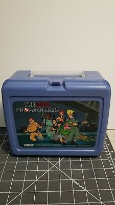 Vintage 1984-1986 The Real Ghostbusters Plastic Lunchbox by THERMOS
