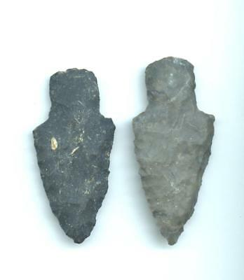 Indian Artifacts- 2 Nice Stem points-Arrowheads