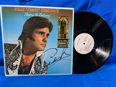 "Billy ""Crash"" Craddock LP Singing is Believing Signed Auto Rare Private Country"