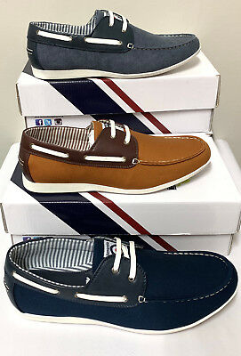 Lambretta Rhode Island Mens Slip On Casual Boat Deck Loafers Shoes