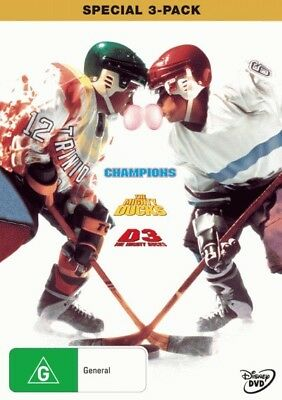 Champions / D2: The Mighty Ducks / D3: The Mighty Ducks = NEW DVD R4