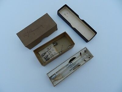 Antique B-D Yale Hypodermic Syringe, No. 3Y and box of hypodermic needles