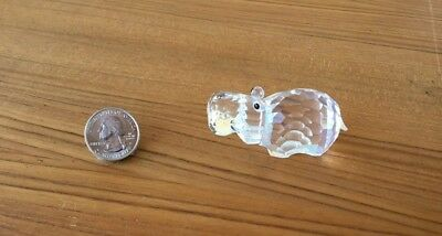 Swarovski Clear Crystal Figurine Hippo (Box and Certificate Included)