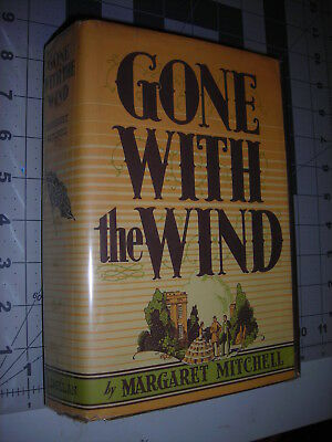 GONE WITH THE WIND Margaret Mitchell 1936 1st Edition/December Print HC/Facs DJ