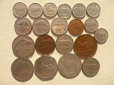 Lot of 20 Irish Coins of Ireland - With Animals and Harps - BIN