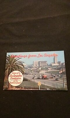 Greetings From Los Angeles Home of the Los Angeles Dodgers - Old Postcard P5117