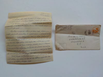 WWII Letter 1945 Atomic Bomb Japanese Gas Caves WW II 348th Fighter Group WW2