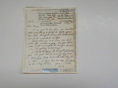 WWII V-Mail Letter 1945 Jacksonville Florida Assembly Area Command WW2 Navy War