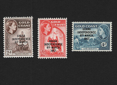 OPC 1957 Ghana QEII Independence Set Sc#25-7 MNH 33147