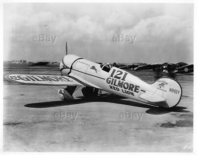 Old Aircraft Photo Gilmore Red Lion Nr61Y Roscoe Turner Racer 121 Wedell-William
