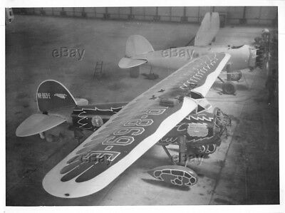 Vintage Aircraft Photo Nr869E Mattern Round The World Century Of Progress Vega 5
