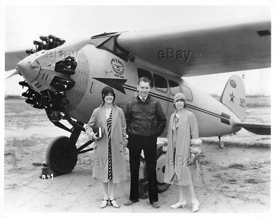 Vintage Aircraft Photo Lockheed Vega 1 Air Associates Flapper Girls Nr3625 X3625