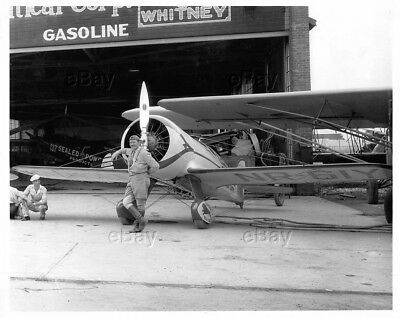 Aircraft Photo Gilmore Red Lion Nr61Y Roscoe Turner Racer Wedell-William Hanger