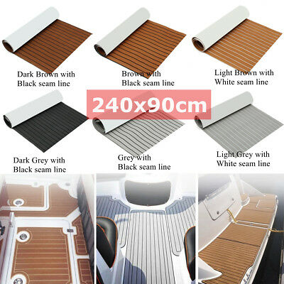 94.5''x35.4'' EVA Foam Boat Teak Decking Marine Flooring Carpet Sheet Yacht US