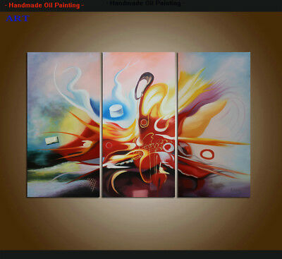 Framed Large MODERN ABSTRACT OIL PAINTING On Canvas Contemporary Wall Art Decor