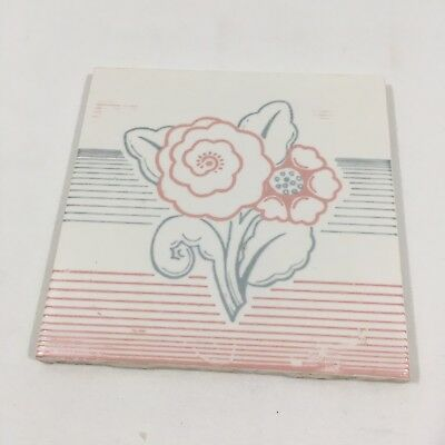 Hermosa Floral Tile Gladding McBean & Co - Made In USA!