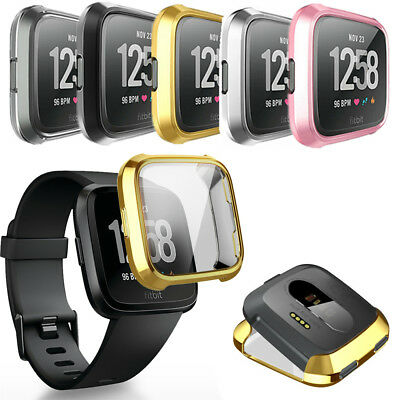 For Fitbit Versa Bands Fitness Slim Sleeve Case Plating Protective Soft Cover HQ