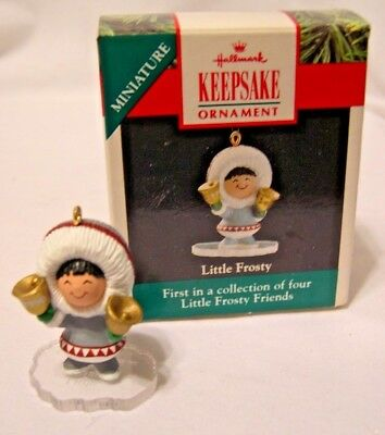 NIB Hallmark Little Frosty Friends 1st in Series ornament for Wreath 1990