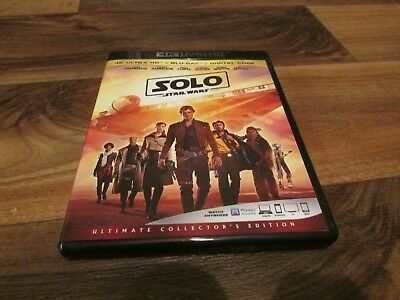 Star Wars Story Han Solo 4K Ultra HD Blu Ray Excellent Condition Used Movie