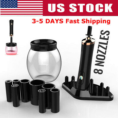 US Electric Makeup Brush Cleaner Automatic Cosmetic Dryer Cleaning Tool Spin