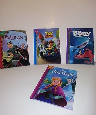Disney Kids Set of 4 Hardcover Books Frozen, Toy Story, Mulan, Finding Dory! New
