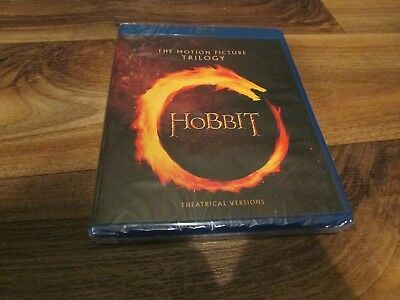 The Hobbit Trilogy (Blu-ray Disc, 2018) Brand New Sealed