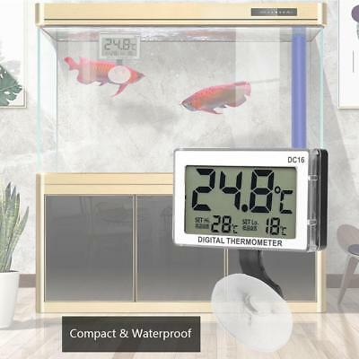DC16 Digital LCD Aquarium Thermometer Waterproof Thermometer for Fish Tank UBS
