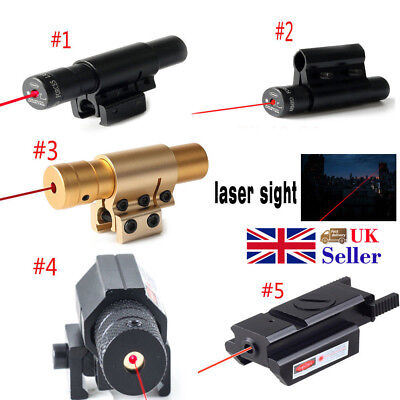 Mini Tactical Red Dot Laser Sight Scope Fit 20mm Picatinny Rail Mount Adjustable
