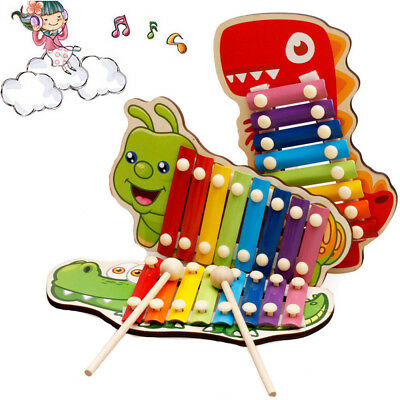 Baby Kid Musical Toys Wooden Xylophone Eight-Tone Piano Early Education TOY GIFT