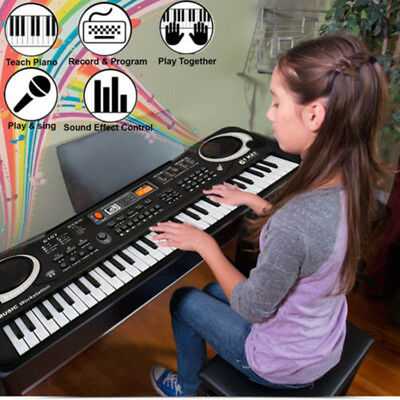 61 Keys Early Educational Tool Piano Electronic Keyboard with MIC Children Toys