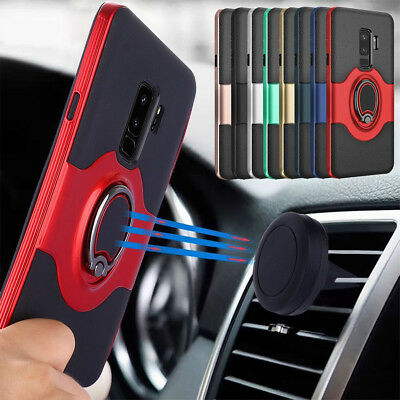 For Samsung Galaxy S9/S8/Plus/S7/Edge/Note 9 8 Ring Holder Shockproof Case Cover