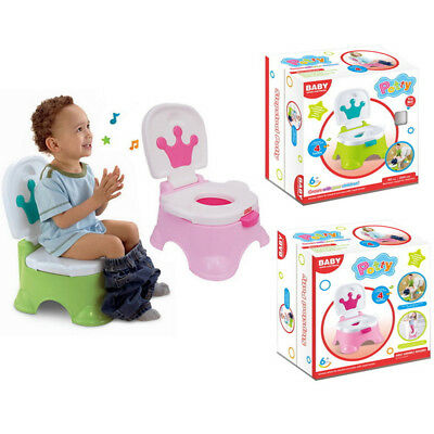 Toddler Kids Baby Toilet Trainer Potty Urinal Training Seat Music Chair FUN TOYS
