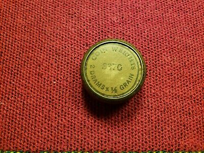 Vintage Scientific Tin Coin Weights 2 Drams X 1/8 Grain Package