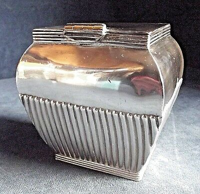 SUPERB ~ GEORGIAN Style ~ SILVER Plated ~ Fluted Tea CADDY ~ c1900