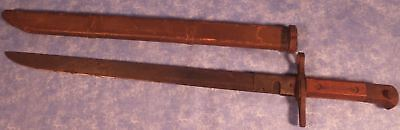 WWII JAPANESE LAST DITCH ARISAKA BAYONET Wood Scabbard, EXCELLENT