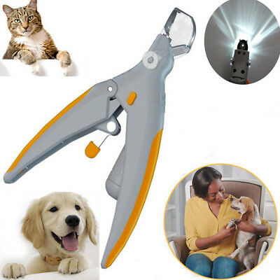 Pet Nail Care Clipper Trimmer Grooming With LED Light Health For Pet Cat Dog