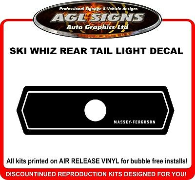 MASSEY - FERGUSON Ski Whiz Reproduction Tail Light Decal