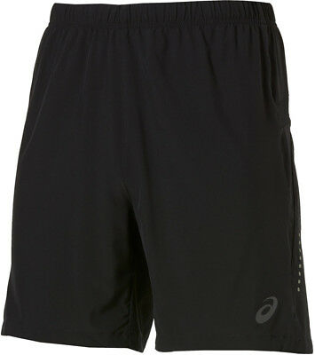 Asics Woven 7 Inch Mens Lightweight Breathable Running Training Shorts Black