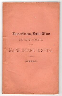 1880 Report Maine Insane Hospital