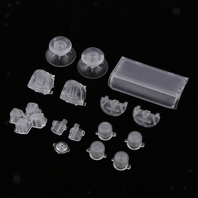 Replacement Full Button Set D-Pad Analog Stick For PS4 Pro Controllers Clear