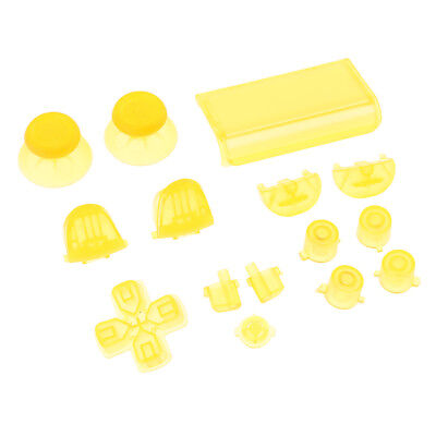 Replacement Full Button Set D-Pad Analog Stick For PS4 Pro Controller Yellow