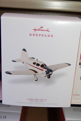 Hallmark 2018 Harlow PJC-2 Sky's The Limit Airplane series Ornament plane