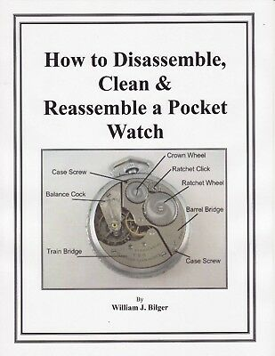 How to Disassemble Clean & Reassemble a Pocket Watch - CD - Book -