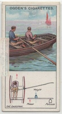 Rowing A Boat Physics Of Lever Oar Fulcrum Explained  c90 Y/O Trade Ad Card