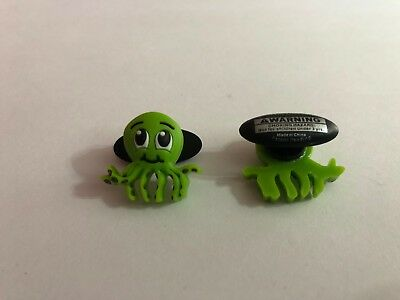 Green Octopus Shoe-Doodle goes in holes of Rubber Shoes Crocs Shoe Charm PSC1018