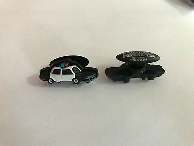 Police Car Shoe-Doodle goes in holes of Rubber Shoes or Crocs Shoe Charm PSC1022