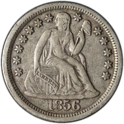 1856-P Seated Liberty Dime - Large Date Great Deals From The Executive Coin Comp