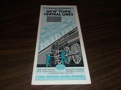 1933 New York Central Lines Nyc Chicago Century Of Progress Exhibition